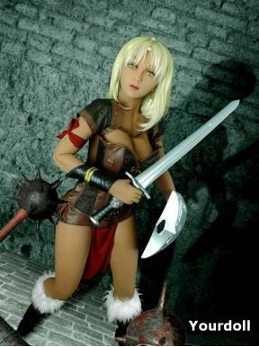 Sexy female gladiator - Fantasy Elf Doll - Shael – 5ft 5in (165cm)