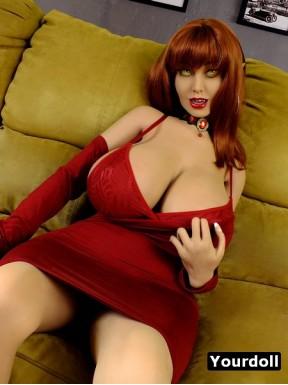 Doll with vampire teeth - Vampire - 5ft 2in (160cm)