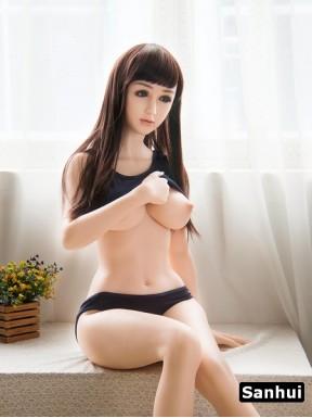 Sanhui love doll in Platinum silicone - Justine – 5.1ft (156cm)
