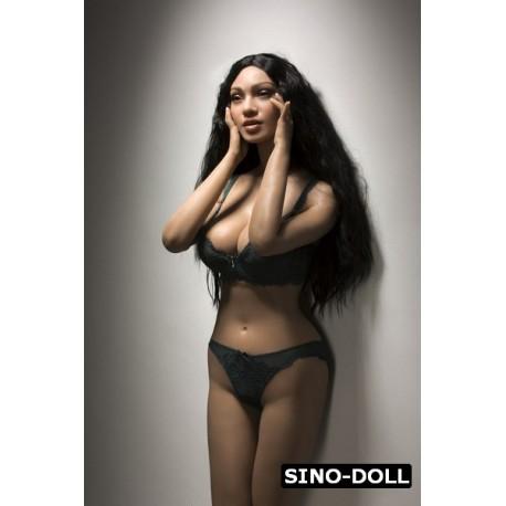 Black silicone sex doll from Sinodoll - Yolanda – 5.2ft (161cm)
