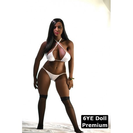 6YE Premium ebony sex doll - Fatou – 4.5ft (138cm)