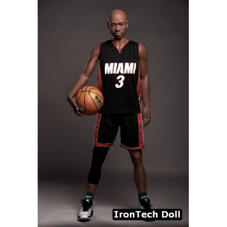 Handsome black sporty male doll from IronTechDoll - James – 5.7ft (175cm)
