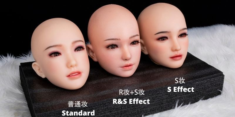 SinoDoll Head with R&S makeup
